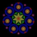 Rosette window leadlight radial dot patterns Stock Photo