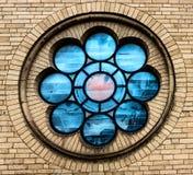 Rosette Window på den stora Sten Martin Church i Cologne, Tyskland Royaltyfri Foto