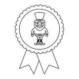 Rosettenausweis mit Koboldst.-patricks Karikatur Lizenzfreie Stockfotos