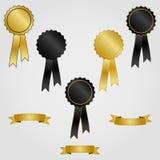 Rosettes com fitas Imagens de Stock Royalty Free