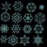 Rosettes decorativos ajustados. Imagens de Stock Royalty Free
