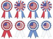 Rosettes dos EUA Imagens de Stock