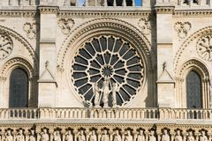 Rosettes of Notre Dame cathedral Royalty Free Stock Photos
