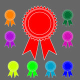 Rosettes in a range of colors (vector) Royalty Free Stock Image