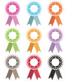Rosettes with ribbons Royalty Free Stock Photography