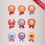 Rosettes set Royalty Free Stock Images