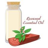 Rosewood ουσιαστικό πετρέλαιο Στοκ Φωτογραφίες