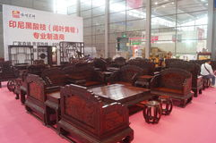 Rosewood furniture exhibition sales Royalty Free Stock Photography