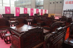 Rosewood furniture exhibition sales Stock Photography