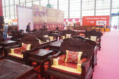 Rosewood furniture exhibition sales Royalty Free Stock Photos