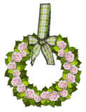Rosewreath with a bow Stock Image