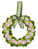 Rosewreath mit einem Bogen Stockbild