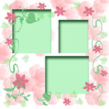 Rosey Scrapbook Frame Royalty Free Stock Images