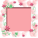 Rosey scrapbook frame Stock Images