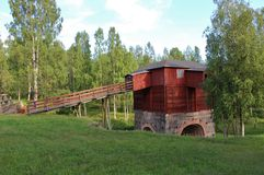 Rosfors ironworks in Norrbotten Stock Photo