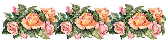 Rosgirland, vattenfärg Royaltyfri Bild