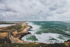 Rosh与黎巴嫩的haNikra边界 免版税库存照片