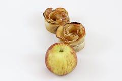 Rosh的HaShana点心用苹果 免版税图库摄影