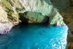 洞穴Rosh Hanikra 免版税图库摄影
