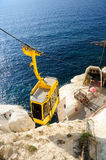 Rosh hanikra cable road. Royalty Free Stock Image