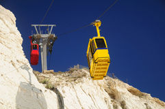 Rosh hanikra cable road. Royalty Free Stock Images