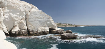 Rosh hanikra clifs in north israel Royalty Free Stock Images
