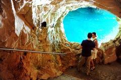 Rosh HaNikra grottor - Israel Arkivfoto