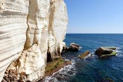 Rosh HaNikra grottor - Israel Royaltyfri Foto