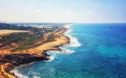 Rosh HaNikra Israel Coastline fotos de archivo libres de regalías