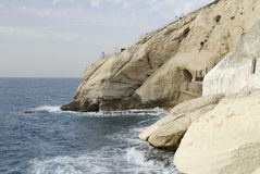 Rosh HaNikra in Israel near the Lebanon border Stock Photography