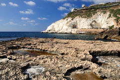 Rosh hanikra view. Royalty Free Stock Images