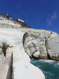 Rosh Hanikra White Cliffs in Northern Israel Stock Images