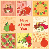 Rosh hashana greeting card set Stock Image