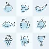 Rosh Hashana ikony Obrazy Royalty Free