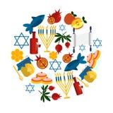 Rosh Hashana jewish new year greeting card. Royalty Free Stock Image