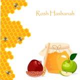 Rosh Hashana jewish new year greeting card. Stock Image
