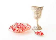 Rosh hashana Kiddush cup pomegranate Royalty Free Stock Photography