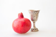 Rosh hashana Kiddush cup pomegranate Royalty Free Stock Image