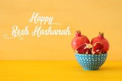 Rosh hashanah & x28; żydowski nowego roku holiday& x29; pojęcie Granatowa raditional symbol zdjęcia royalty free