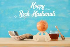 Rosh hashanah & x28; żydowski nowego roku holiday& x29; pojęcie symbole tradycyjni obraz stock