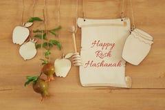 Rosh hashanah & x28; żydowski nowego roku holiday& x29; pojęcie symbole tradycyjni zdjęcie royalty free