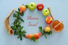 Rosh hashanah & x28; 犹太新年holiday& x29;概念 免版税图库摄影