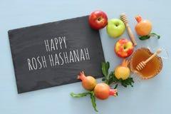 Rosh hashanah & x28; 犹太新年holiday& x29;概念 库存图片