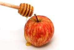 Rosh Hashanah Apple y miel tradicionales Fotos de archivo