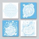 Rosh hashanah cards samlingen stock illustrationer