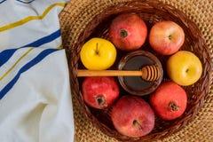 Rosh-hashanah j?discher Neujahrsfeiertag stockbild