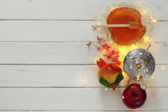 Rosh hashanah (jewesh New Year holiday) concept. Traditional sym Royalty Free Stock Photography