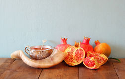 Rosh hashanah (jewesh New Year holiday) concept. Traditional sym Royalty Free Stock Image