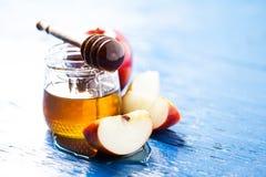 Rosh hashanah. (jewish holiday) concept: honey and apple Royalty Free Stock Photography
