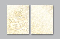 Rosh Hashanah greeting cards Stock Photos